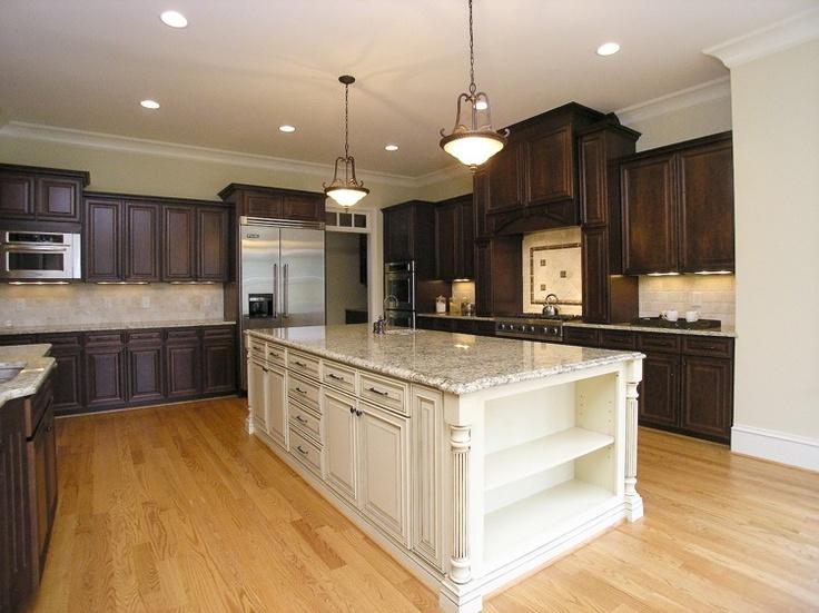 Light island dark outer cabinets dream house pinterest for Brammer kitchen cabinets