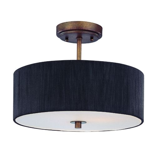 bronze semi flush ceiling light with drum shade 14. Black Bedroom Furniture Sets. Home Design Ideas