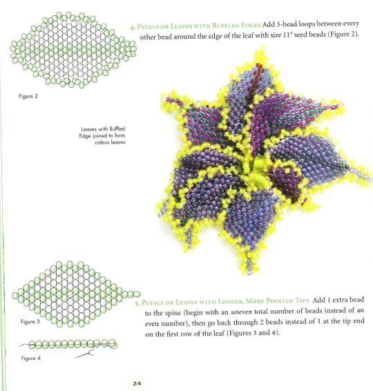Подробная схема плетение из бисера цветка