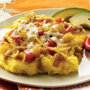 Migas -- Tex Mex Scrambled Eggs & Tortillas)
