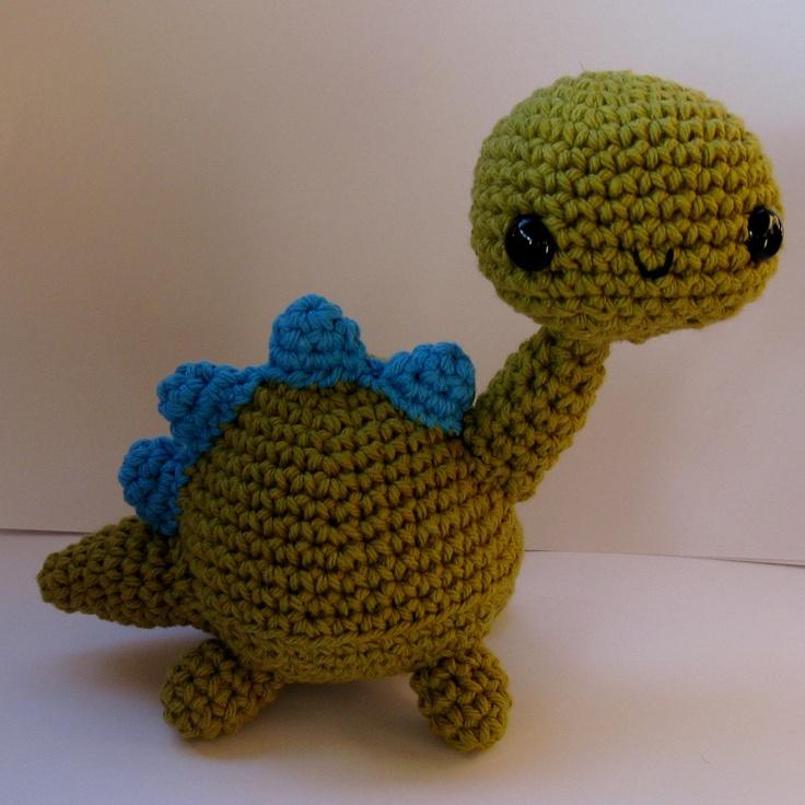 Crochet Dinosaur : Amigurumi Dinosaur crochet pattern - PDF Digital Download