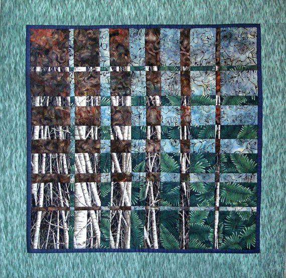 Art Quilt Wall Hanging Fabric Art