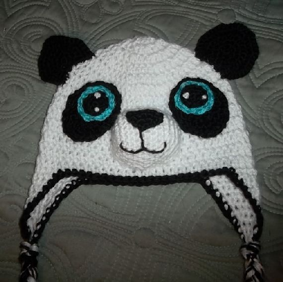 Crocheted Panda Hat
