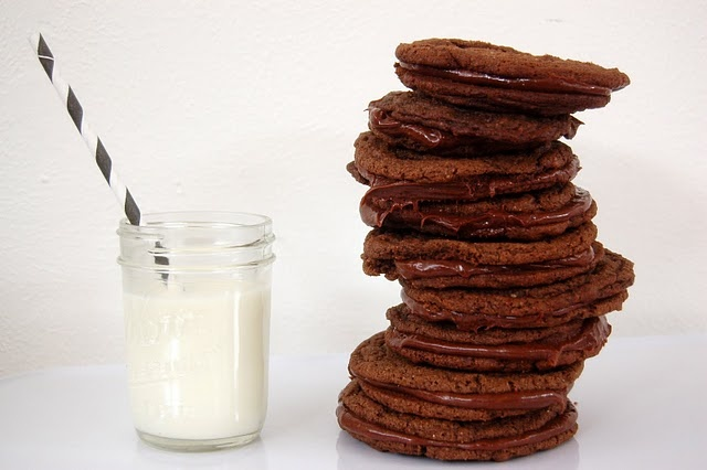 Chocolate Malt Cookie Sandwiches | Stuff I Make | Pinterest