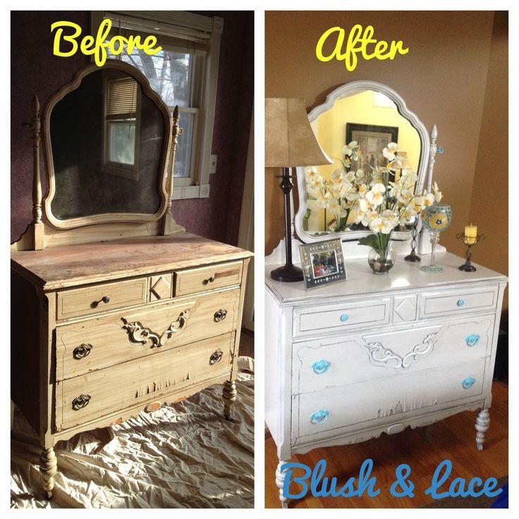 diy refinishing and glazing furniture painted dresser