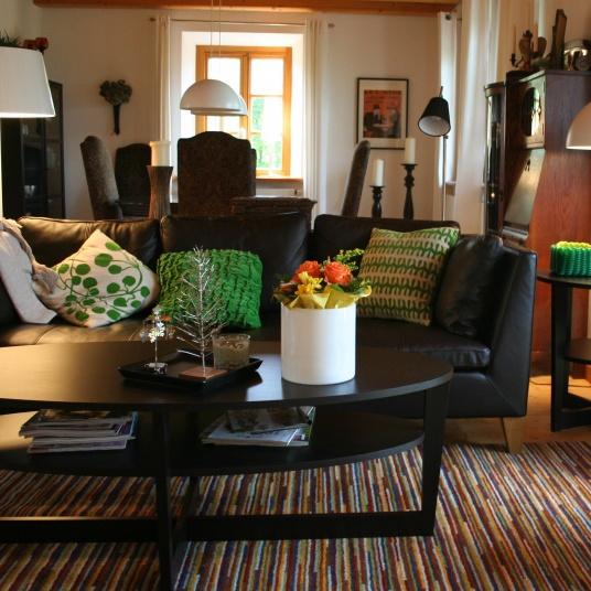 Vejmon Coffee Table And Ikea Leather Sofa