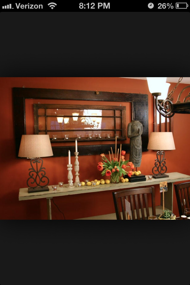 living room burnt orange and brown for the home