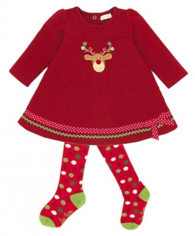 Le top merry reindeer dress amp tights beautiful amp unique girls cloth