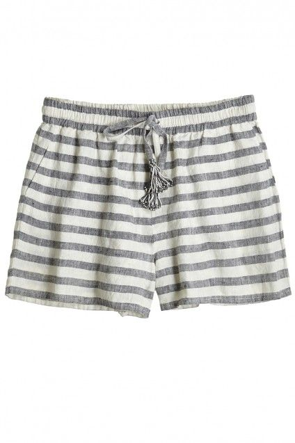 Jenora Striped Linen Short
