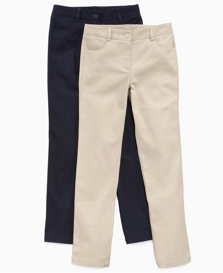 ... Pants, Little Girls Twill Uniform Pants - Kids Girls 2-6X - Macy's