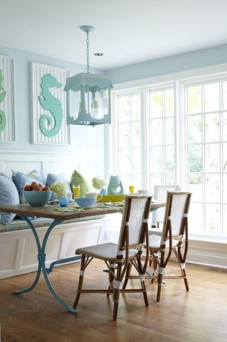 Beach house dining room home decor pinterest for Beach dining room ideas
