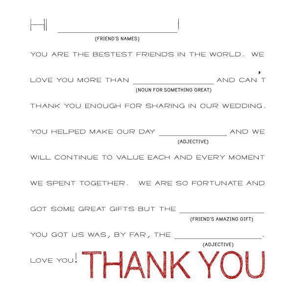 Unique Wedding Thank You Card Ideas