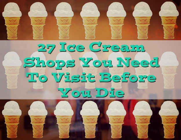 27 Ice Cream Shops