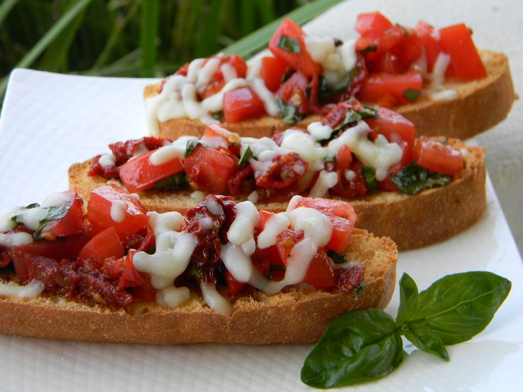 Double Tomato Bruschetta - Welcoming in the New Year. #NewYears # ...