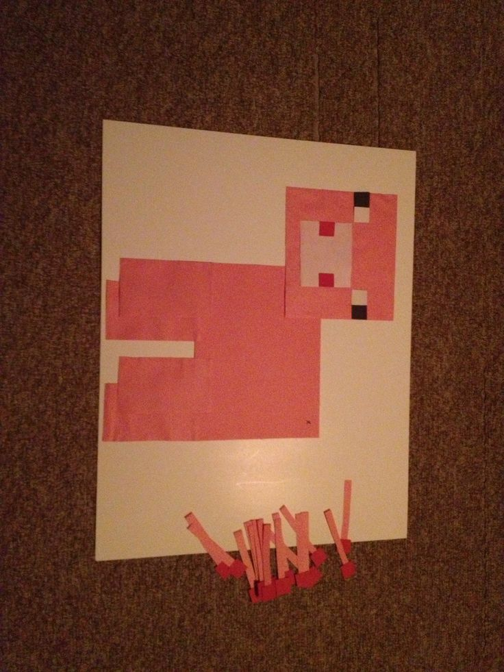 ... paper and a standard size poster board. : Minecraft Birthday Party