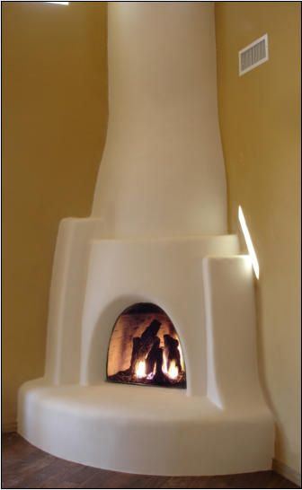 Navajo kiva fireplace kit adobe homes pinterest for Kiva fireplace