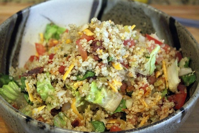 Cheeseburger quinoa salad | salads and veggies | Pinterest