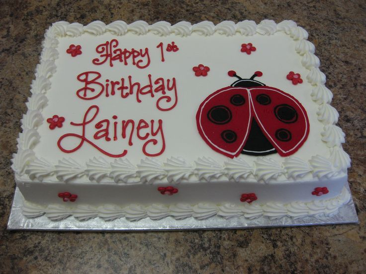 Cake Decoration At Coles : Ladybug cake for Coles  birthday Fete coccinelle Pinterest