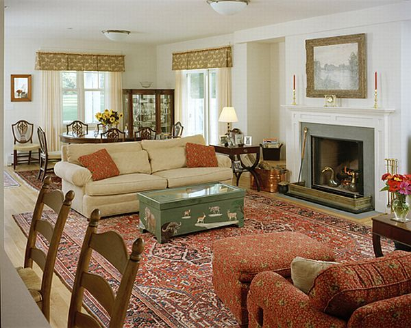staging a living room with fireplace and couch | The chairs also need to be placed perpendicularly to the fireplace ...