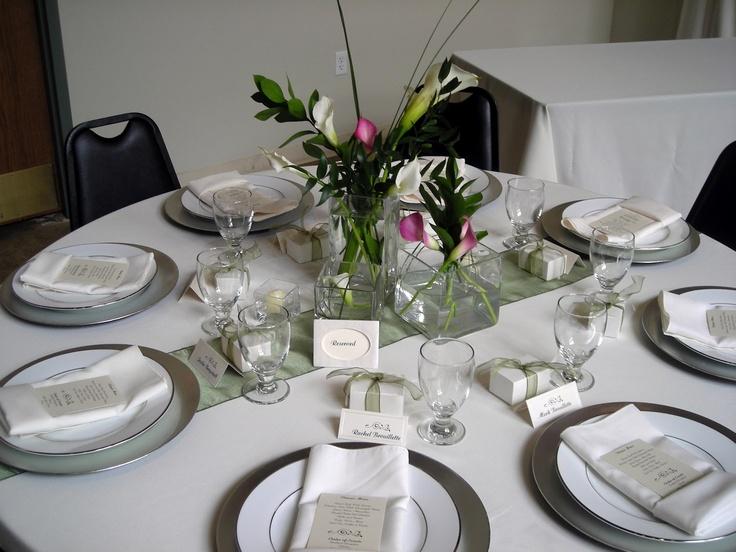 Elegant Table Settings Wedding Ideas Pinterest