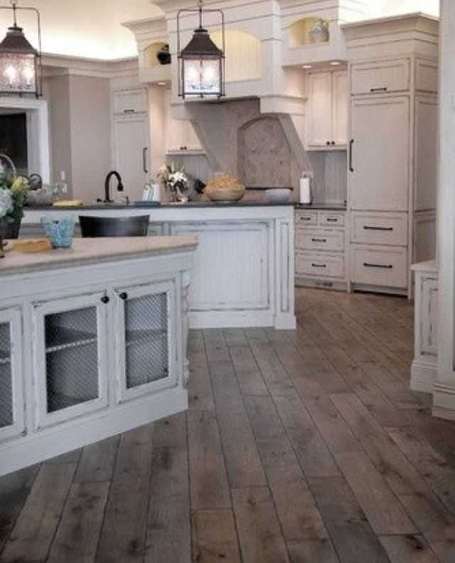 Rustic kitchen with beautiful floors kitchen pinterest for Beautiful kitchen floors