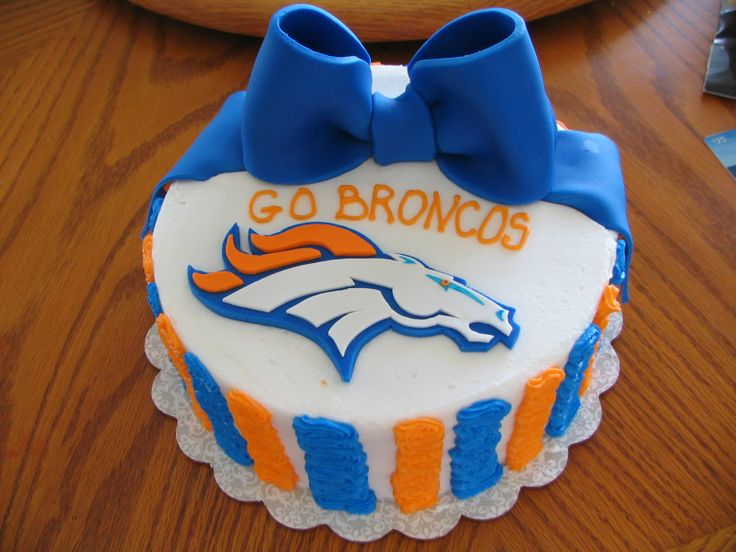 Denver Broncos Cake Decorating Kit