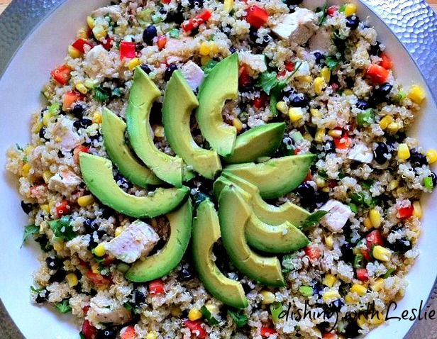 Dishing With Leslie: Southwest Quinoa Salad, could eat this every day ...