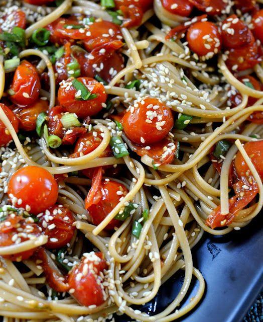 Whole Wheat Pasta With Tomato Vinaigrette Recipe — Dishmaps