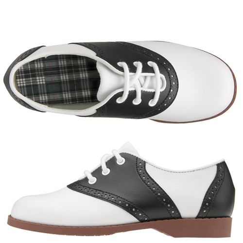Black and White Saddle                   Shoes