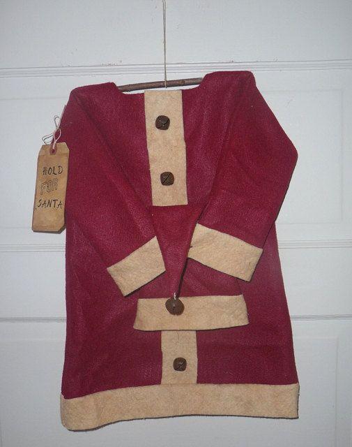 Primitive Santa Suit door hanger prim Santa