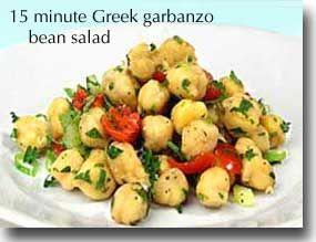15-Minute Greek Garbanzo Bean Salad | Recipes | Pinterest