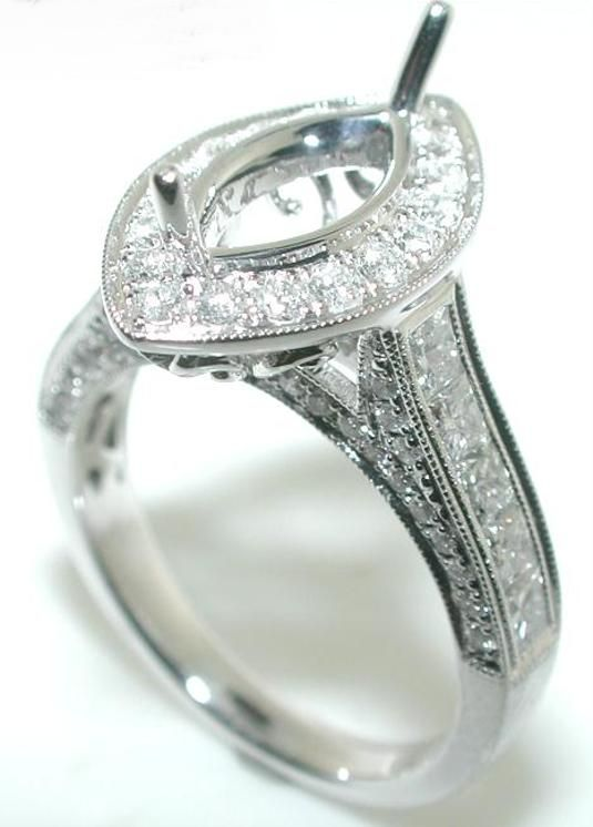 Marquise diamond ring settings 50ct marquise halo diamond mounting
