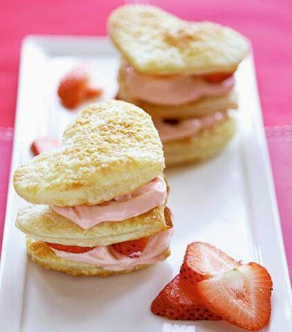 Strawberry napoleons | Valentine baking ideas | Pinterest