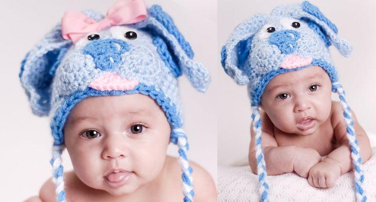 Blue Puppy Crochet Hat/Beanie Pattern by boomerbeanies on Etsy, $4.99