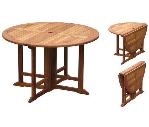 Outdoor drop leaf table google search patio ideas pinterest - Round gateleg dining table ...