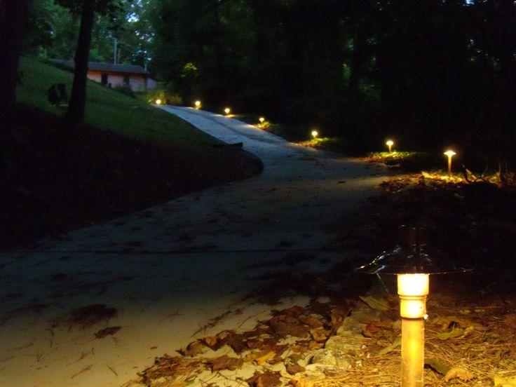 lights along driveway : Cabin Outdoor Lighting Ideas : Pinterest