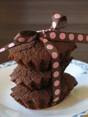 Dark Chocolate Financiers... French, pretty, generous with almonds ...