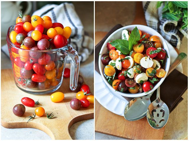 Quick Caprese Salad | by Sonia! The Healthy Foodie 3 cups cherry ...