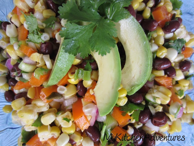 My Kitchen Adventures: Corn, Black Bean and Avocado Salad