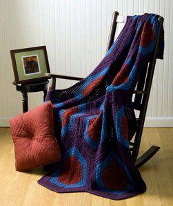 A Geometric Crochet Afghan