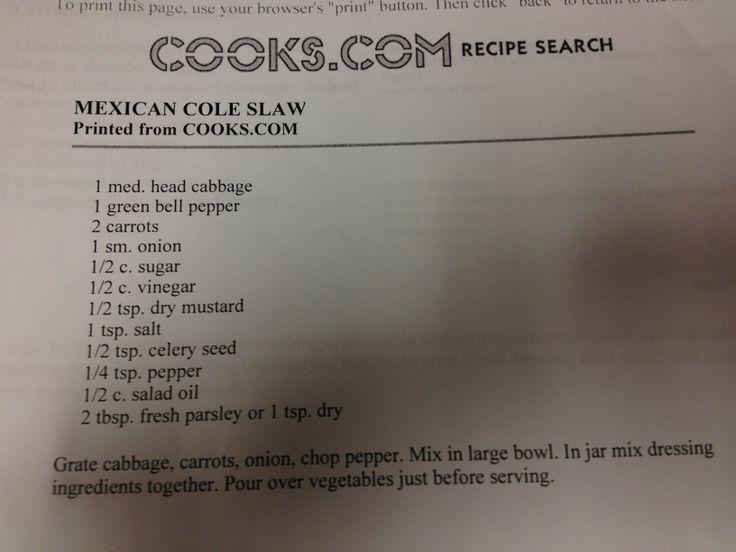 Mexican coleslaw | Recipes | Pinterest