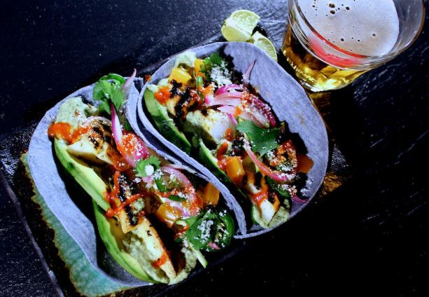Baja fish tacos recipe dishmaps for Fish taco menu