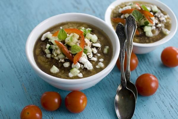 Grilled gazpacho