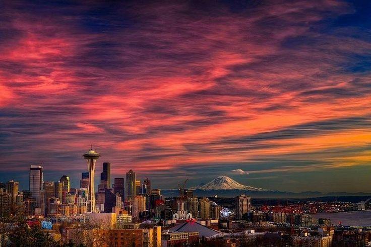 sunset on the seattle - photo #8