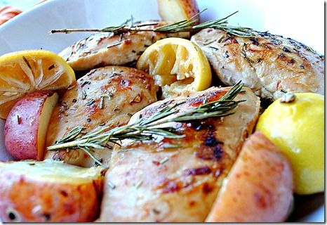Lemon and Rosemary Chicken (from Eat Yourself Skinny blog w/other good ...