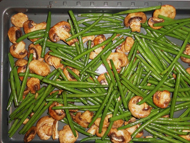 Roasted Green Beans & Mushrooms , we really love these types of dishes ...