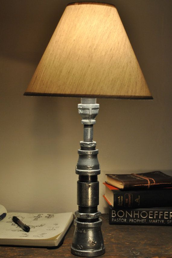 Industrial pipe lamp diy other stuff pinterest for How to make a pipe lamp