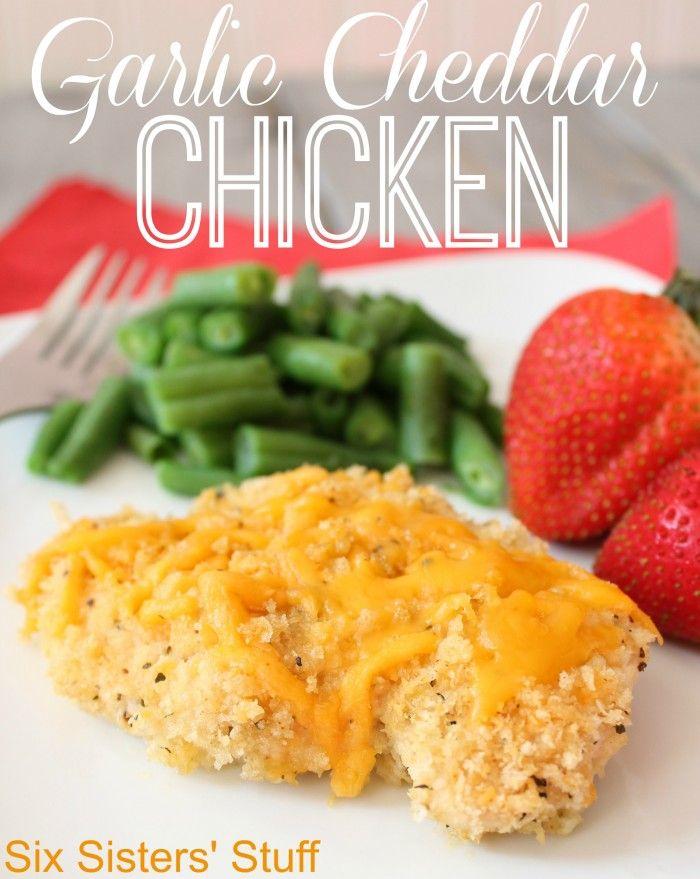 garlic cheddar chicken | Recipes | Pinterest