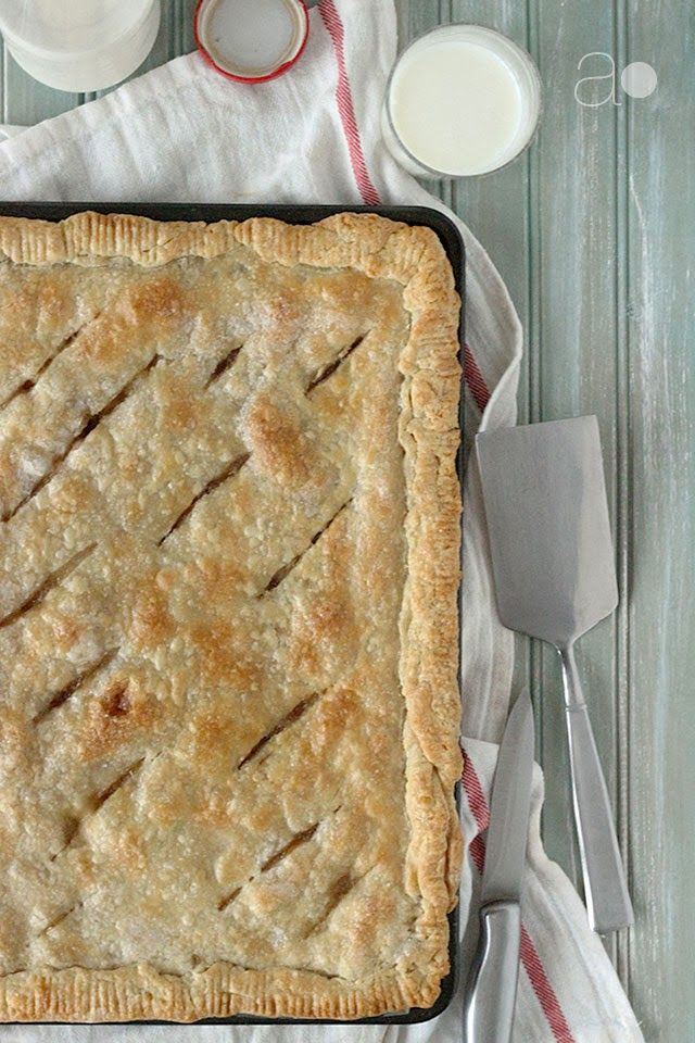 ambrosia: Pear, Brandy, & Vanilla Bean Brown Butter Slab Pie