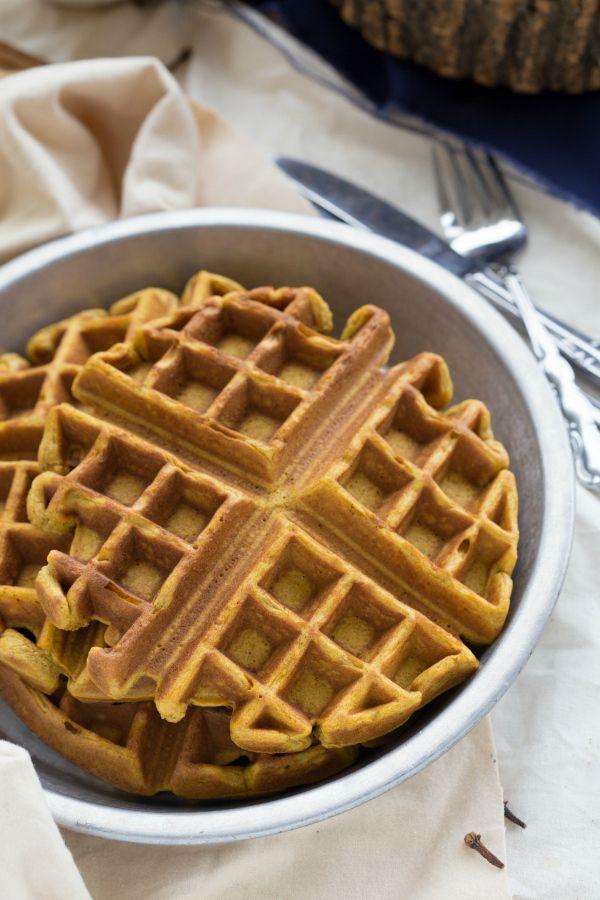 Cinnamon-Pumpkin Waffles with a Caramel Syrup | Recipe